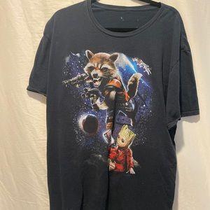 Marvel guardians of the galaxy groot XL tee shirt